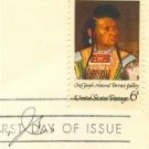 American Indian Chief Joseph 6 cent Stamp FDI SC 1364 First Day Issue