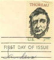 Henry David Thoreau 5 cent Stamp FDI SC 1327 First Day Issue