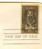 William Shakespeare 5 cent Stamp FDI SC 1250 First Day Issue