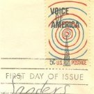 Voice of America 5 cent Stamp FDI SC 1329 First Day Issue