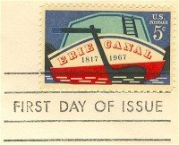 Erie Canal 5 cent Stamp FDI SC 1325 First Day Issue