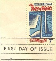 Bill of Rights 175th Anniversary 5 cent Stamp FDI SC 1312 First Day Issue