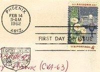 Arizona 4 cent Stamp FDI SC 1192 First Day Issue