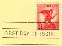 Bald Eagle 6 cent Stamp FDI SC C67 First Day Issue