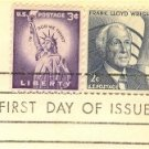 Frank Lloyd Wright 2 cent Stamp Prominent Americans Issue FDI SC 1280 First Day Issue
