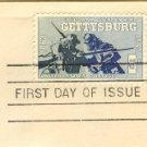 Gettysburg  5 cent Stamp Civil War Centennial Issue FDI SC 1180 First Day Issue