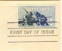 Gettysburg  5 cent Stamp Civil War Centennial Issue FDI SC 1180 First Day Issue
