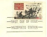 The Wilderness 5 cent Stamp Civil War Centennial Issue FDI SC 1181 First Day Issue