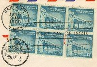 Palace of the Governors 1 ¼ cent Stamp 3 Horizontal Pairs FDI SC 1031A First Day Issue