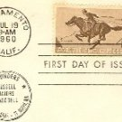 Pony Express 4 cent Stamp FDI SC 1154 First Day Issue