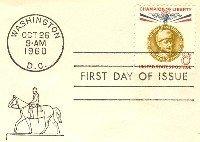 Gustaf Mannerheim 8 cent Stamp Champion of Liberty Issue FDI SC 1166 First Day Issue