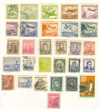 Chile 29 stamps
