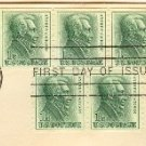 Andrew Jackson Coil 1 cent strip of 3 and strip of 2 FDI SC 1225 First Day Issue