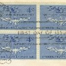 Naval Aviation 4 cent Stamp Block 4 FDI SC 1185 First Day Issue