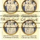 1978 Christmas Madonna and Child Andrea della Robbia Block of 4 FDI SC 1768 First Day Issue