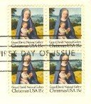 1979 Christmas Stamp15 cent Virgin and Child Stamp Gerard Davis Block 4 FDI SC 1799 First Day Issue