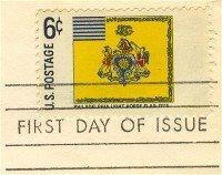 Philadelphia Light Horse Flag 6 cent Stamp FDI SC 1353 First Day Issue