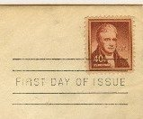 John Marshall 40 cent Stamp wetproofing FDI SC 1050 First Day Issue