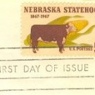 Nebraska Statehood 5 cent Stamp FDI SC 1328 First Day Issue