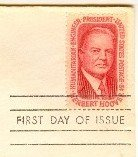 Herbert Hoover 5 cent Stamp FDI SC 1269 First Day Issue