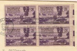 California Gold Centennial 3 cent Stamp FDI SC 954 First Day Issue