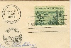 Minnesota Statehood 3 cent Stamp FDI SC 1106 First Day Issue