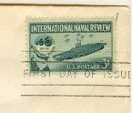 International Naval Review 3 cent Stamp FDI SC 1091 First Day Issue