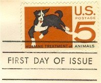 Humane Treatment of Animals 5 cent Stamp FDI SC 1307 First Day Issue