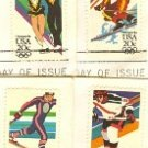 1984 Winter Olympic Games Issue 4 Stamps complete set FDI First Day Issue