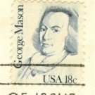 George Mason 18 cent Stamp Great Americans Issue FDI SC 1858 First Day Issue