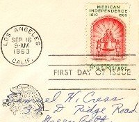Mexican Independence 4 cent Stamp FDI SC 1157 First Day Issue