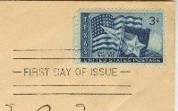 Texas Statehood 3 cent Stamp FDI SC 938 First Day of Issue