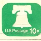 Emerald Liberty Bell 10 cent Envelope FDI SC U567 First Day Issue