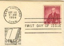 Noah Webster 4 cent Stamp FDI SC 1121 First Day Issue