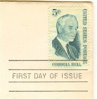 Cordell Hull 5 cent Stamp FDI SC 1235 First Day Issue