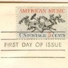 American Music 5 cent Stamp FDI SC 1252 First Day Issue