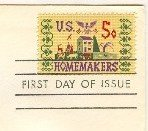 Homemakers 5 cent Stamp FDI SC 1253 First Day Issue