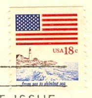 From Sea to Shining Sea 18 cent Stamp Flag Anthem Issue FDI SC 1891 First Day Issue