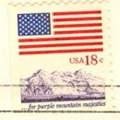 For Purple Mountain Majesties 18 cent Stamp Flag Anthem Issue FDI SC 1893 First Day Issue