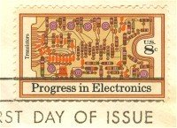 Transistors Printed Circuit Board 8 cent Progress in Electronics Issue FDI SC 1501 First Day Issue