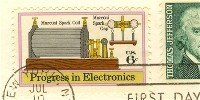 Marconi Spark 6 cent Progress in Electronics Issue FDI SC 1500 First Day Issue