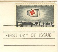International Red Cross 5 cent Stamp FDI SC 1239 First Day Issue