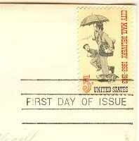 City Mail Delivery 5 cent Stamp FDI SC 1238 First Day Issue