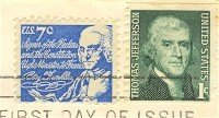 Benjamin Franklin 7 cent Stamp FDI SC 1393D First Day Issue