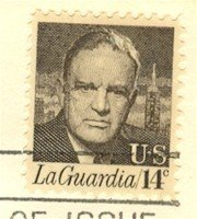 Fiorella H LaGuardia 14 cent Stamp FDI SC 1397 First Day Issue