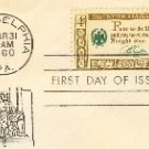 Benjamin Franklin 4 cent Stamp American Credo Issue FDI SC 1140 First Day Issue