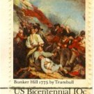 Battle of Bunker Hill 10 cent Stamp Bicentennial Issue FDI SC 1564 First Day Issue