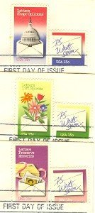 Letter Writing Issue Complete Set on 3 Envelopes FDI First Day Issue