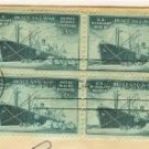 Merchant Marine 3 cent Stamp block of 4 FDI SC 939 First Day Issue
