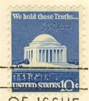Jefferson Memorial 10 cent Stamp FDI SC 1510 First Day Issue